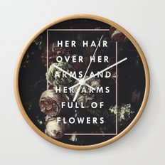 Arms Full Of Flowers Wall Clock