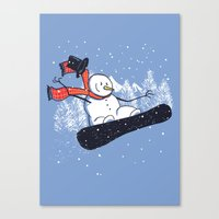 Snow Ahead! Canvas Print