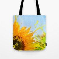 Splashing Sunflower Tote Bag