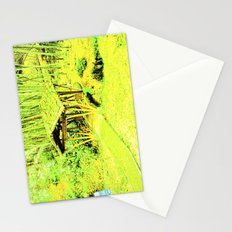 Green living eye. Stationery Cards
