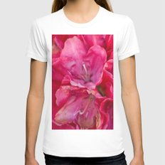 Azalea Womens Fitted Tee White SMALL