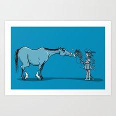 Hobby Horse Romance Art Print