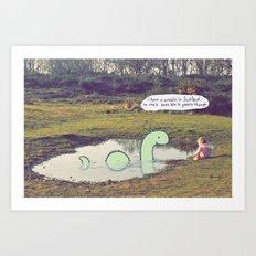 Nessie's Cousin Art Print