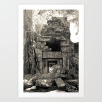 Preah Khan Gate Art Print