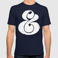 Ampersand Mens Fitted Tee Navy SMALL