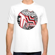 Circle ii White Mens Fitted Tee SMALL