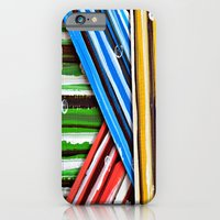 iPhone & iPod Case featuring Striped Planes by Claudia McBain