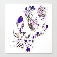 Hidden panda Canvas Print