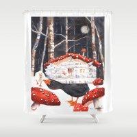 Magic Mushrooms, Forest … Shower Curtain