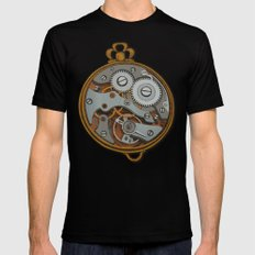 Pieces of Time Black SMALL Mens Fitted Tee