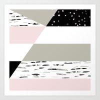Birch Lines Pillow Art Print