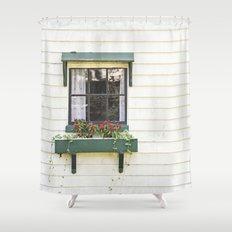 The Green Window Shower Curtain