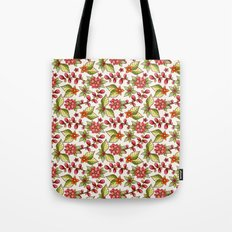 Red sweet flowers Tote Bag