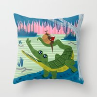 The Alligator And The Ar… Throw Pillow
