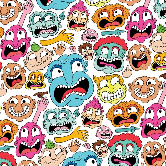 Weird Faces Art Print