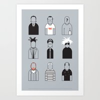 Artists icons Art Print