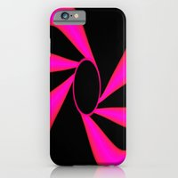 Abstract. Pink+Black Dot. iPhone 6 Slim Case