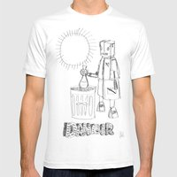 Danger. [SKETCH] Mens Fitted Tee White SMALL