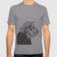 Mr Fluff Mens Fitted Tee Athletic Grey SMALL