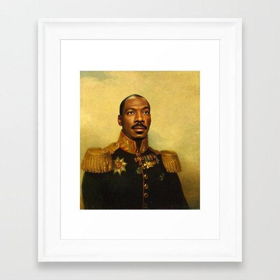 Eddie Murphy - replaceface Framed Art Print