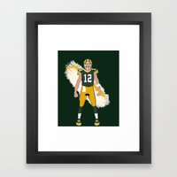 Cheese Head - Aaron Rodgers Framed Art Print