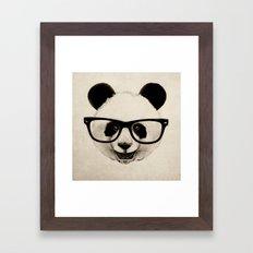 Panda Head Too Framed Art Print