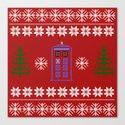 TARDIS CHRISTMAS SWEATER Canvas Print