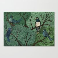 Blue Birds Canvas Print