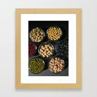 Peas and Beans Framed Art Print