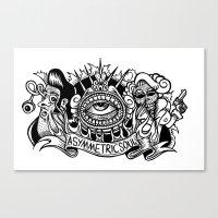 Zombie Rock Canvas Print