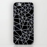 Segment Grey and Black iPhone & iPod Skin