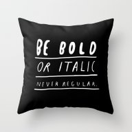 Throw Pillow featuring NEVER by WASTED RITA
