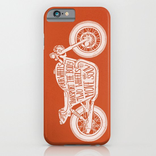 Four wheels transport the body, two wheels move the soul iPhone & iPod Case