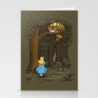 My Neighbor in Wonderland Stationery Cards