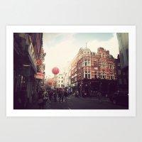 Chinatown , London. Art Print
