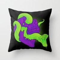Neon Death Throw Pillow