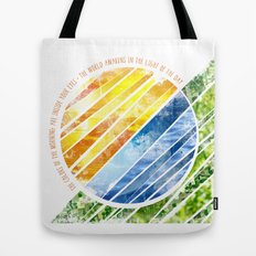 The World Awakens Tote Bag