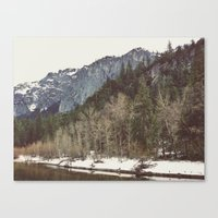 Merced River Layers Canvas Print
