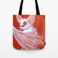 White Bat Tote Bag