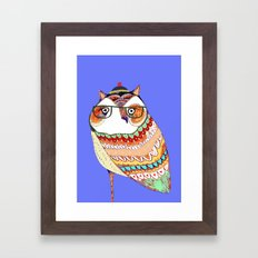 Owl, owl art, owl illustration, owl print,  Framed Art Print