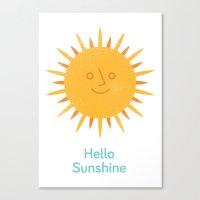 Hello Sunshine Canvas Print