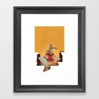 Flying Turtle Framed Art Print
