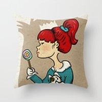 candy monster Throw Pillow