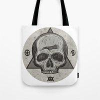 Skull & symbols Tote Bag