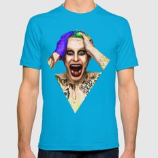 Jared Leto Joker  Mens Fitted Tee Teal SMALL