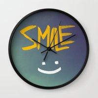 Smile (: Wall Clock
