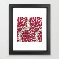 HEARTS  ~  CRIMSON & CLE… Framed Art Print