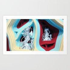 Hugg-a-Diddle Burs Art Print