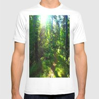 Sunshine Forest Mens Fitted Tee White SMALL