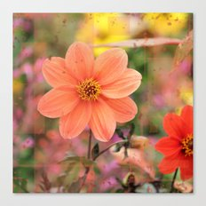 The Flower Garden Cube Canvas Print